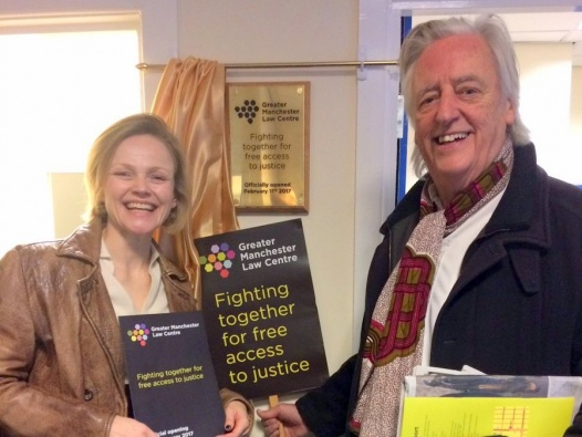 Maxine Peake and Michael Mansfield QC at GMLC